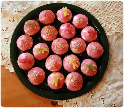 rosa glasur til muffins